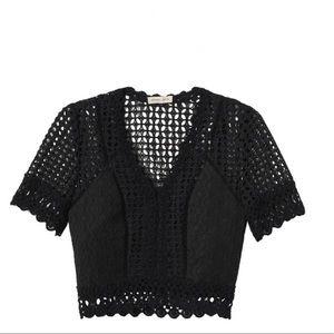 Rebecca Taylor lace crochet top